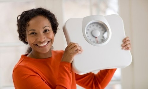 Mujer que perdió peso